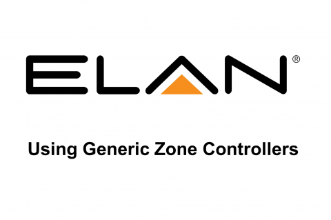 Using Generic Zone Controllers