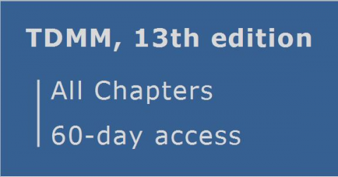 TDMM 13th edition ... All Chapters ... 60 day access (RCDD.04.60)