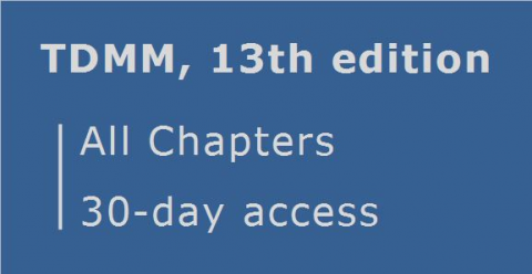 TDMM 13th edition ... All Chapters ... 30 day access (RCDD.04.30)
