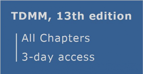 TDMM 13th edition ... All Chapters ... 3-day sampler (RCDD.03.sample)
