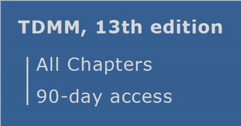 TDMM 13th edition ... All Chapters ... 90 day access (RCDD.04.90)