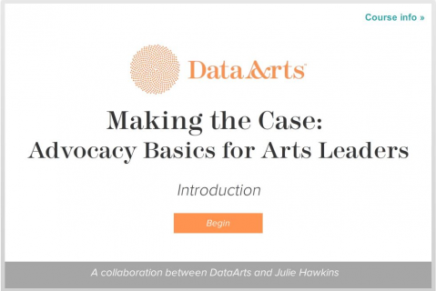Making the Case: Advocacy Basics for Arts Leaders