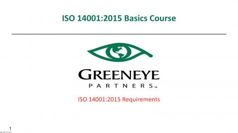 ISO 14001:2015 Basics Course