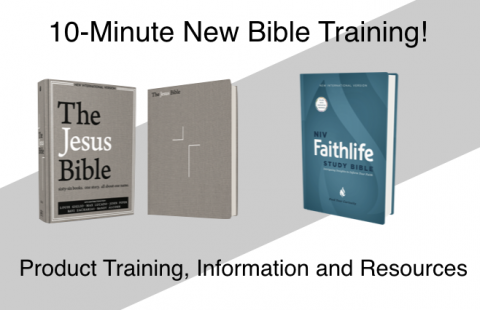 10-Minute Training: The Jesus Bible, NIV Edition  & NIV Faithlife Study Bible (W-2017)