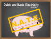 Quick & Basic Electricity (NATE credit)
