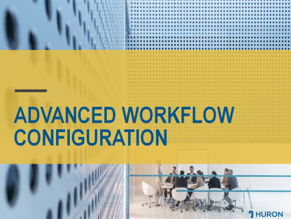 Advanced Workflow Configuration (Fall 2018)