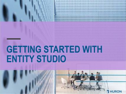 Getting Started with Entity Studio