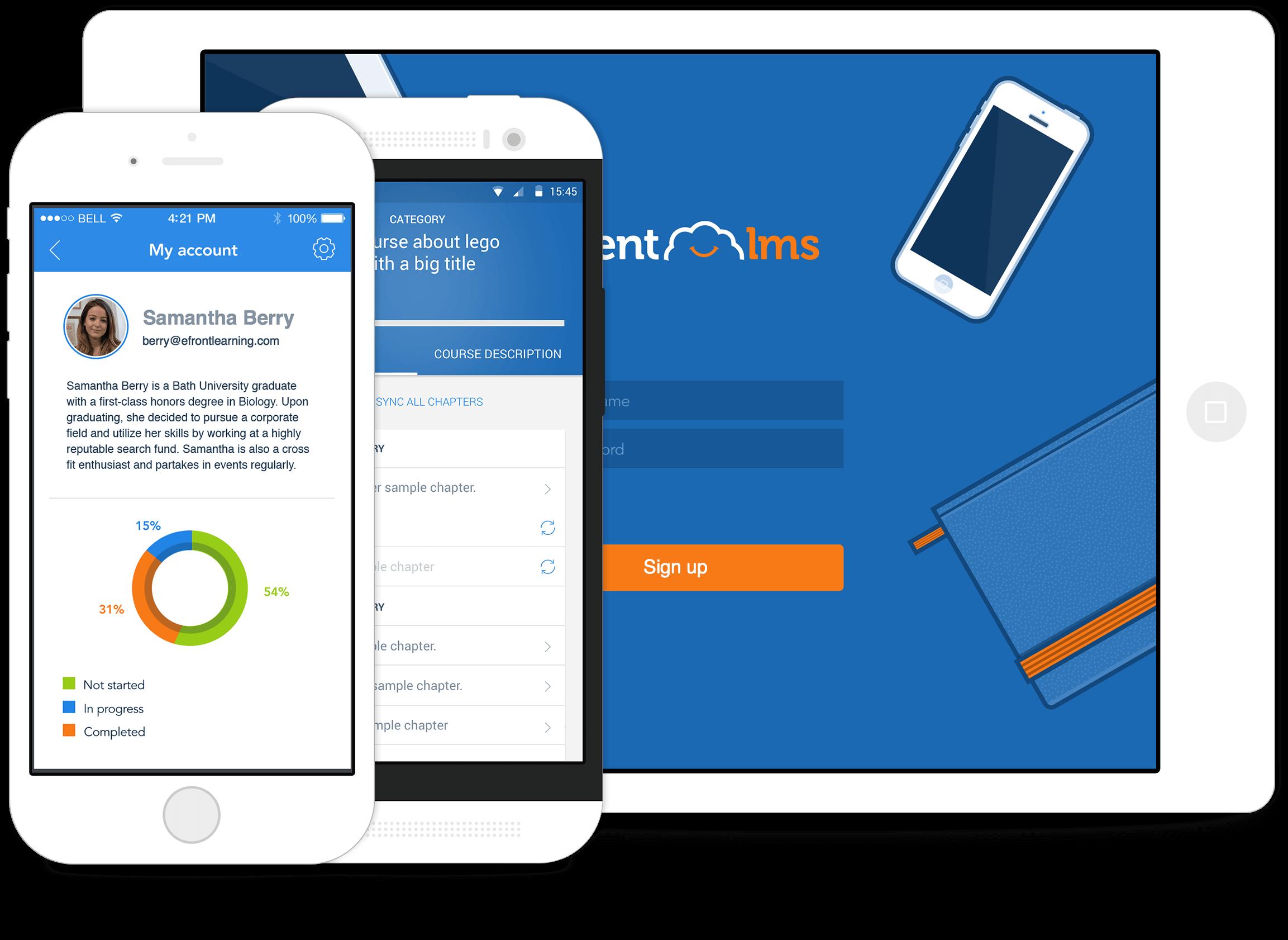 Ukázka Talentlms mobilní aplikace