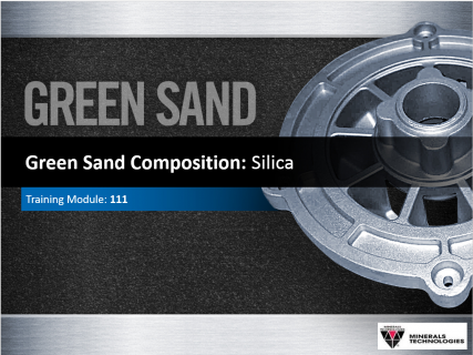 111 -Green Sand Composition: Silica