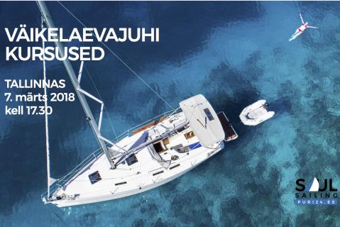 Väikelaevajuhi kursused TALLINN (Märts) VÄLJA MÜÜDUD (KKVLJ003)
