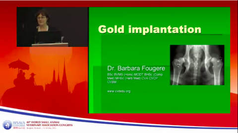 Gold implantation