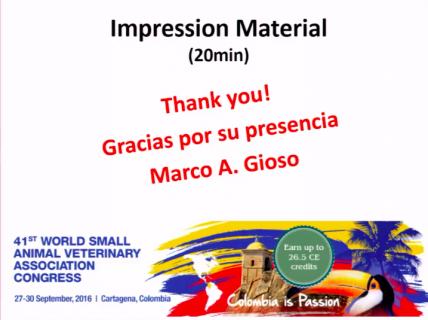 (IN SPANISH) Impression Material