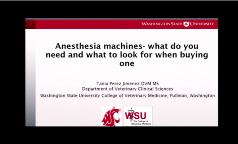 2016 Anesthesia machines - what do you need and what to look for when buying one