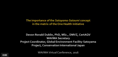 The Importance of Satoyama-Satoumi concept in the matrix of the One Health Initiative