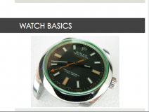 WATCH BASICS