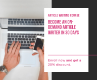ARTICLE WRITING COURSE