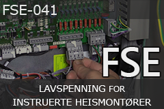 FSE lavspenning for instruerte heismontører (FSE-041)