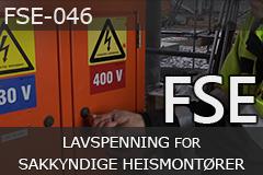 FSE lavspenning for sakkyndige heismontører (FSE-046)