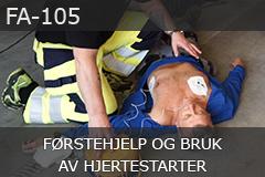 Førstehjelp og bruk av hjertestarter (FA-105)