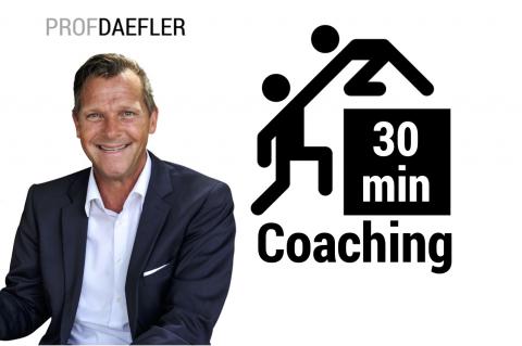 Personal-Coaching Prof. Dr. Martin-Niels Däfler - 30 Min. - Online