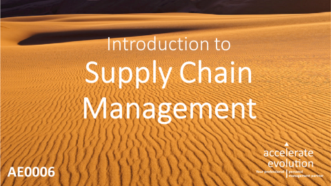 Introduction to Supply Chain Management - A Middle East & Africa Perspective (AE0006)