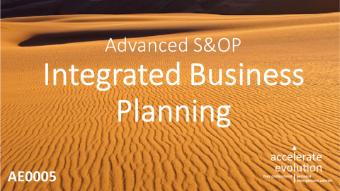 Advanced S&OP - Integrated Business Planning (AE0005)