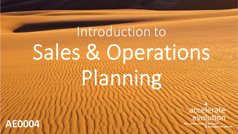 Introduction to Sales & Operations Planning (AE0004)