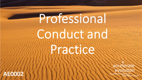 Code of Professional Conduct and Practice (AE0002)