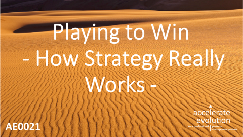 Playing to Win - How Strategy Really Works (AE0021)