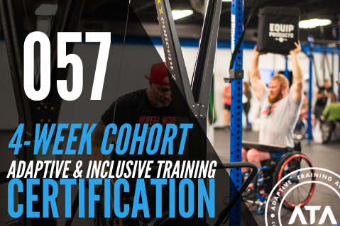 4-WEEK COHORT (057): Adaptive & Inclusive Trainer Certification