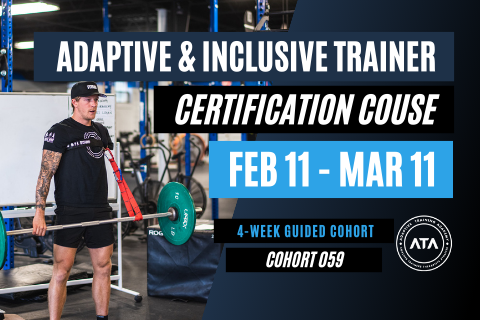 4-WEEK COHORT (059): Adaptive & Inclusive Trainer Certification