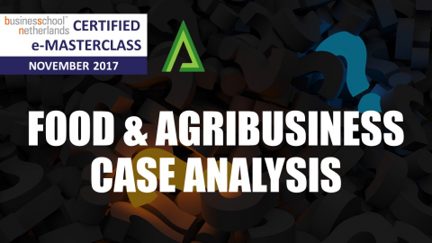 Certified e-Masterclass: Analysis of Food and Agribusiness cases - Dr. Vijayender Nalla (CM001)