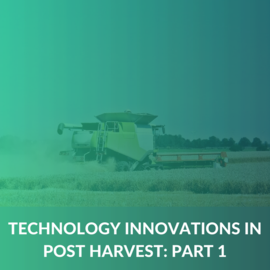 Post Harvest Technology Innovations - Part 1 (MD006)