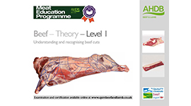 Beef - Theory - Level 1 Understanding and recognising beef cuts