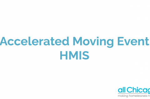 Accelerated Moving Event - HMIS Data Entry