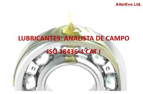 Analista de Campo de Lubricantes ISO 18436 Cat I
