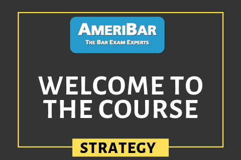 Welcome to the AmeriBar Bar Exam Course (00100)
