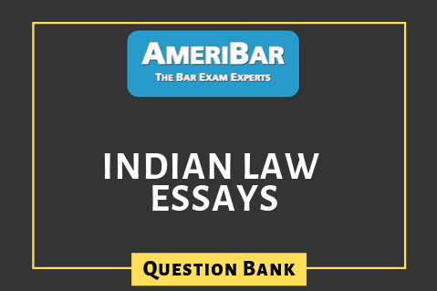Essay - Indian Law Question Bank (SD) (00054)