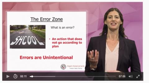 Aviation - Human Factors via video tutorial (A3)