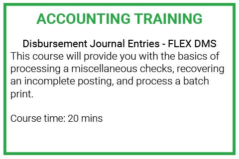 Module 5: Disbursements Journal Entries FLEX-DMS (DE_ACC120)