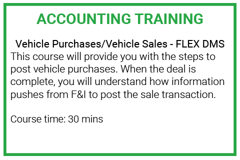 Module 4: Vehicle Purchases/Vehicle Sales (DE_ACC115)