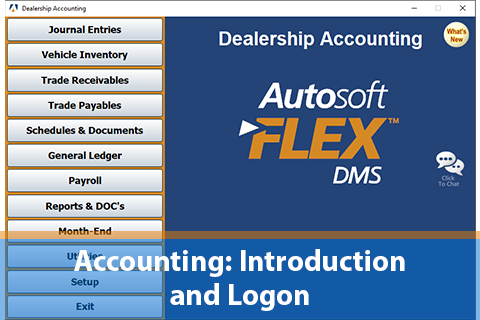 Accounting Introduction and Logon Steps FLEX DMS (DE_ACC105)