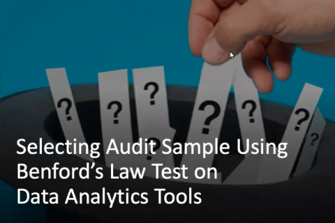 Selecting Audit Sample Using Benford's Law Test on Data Analytics Tools