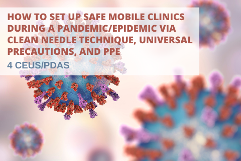 How to Set Up Safe Mobile Clinics During a Pandemic/Epidemic via CNT, Universal Precautions, and PPE