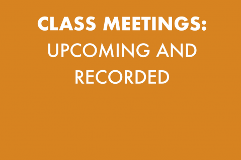 CLASS MEETINGS (101)