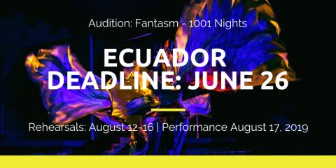 BDE Fantasm - Ecuador Audition - Deadline June 26 - Professional Cast