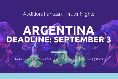 BDE Fantasm - Argentina Audition - Deadline September 3 - Professional Cast
