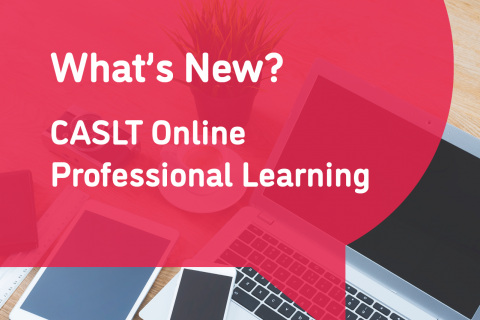 New: CASLT Online Professional Learning