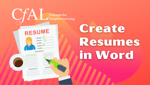 TCT 201: Create Resumes in Word