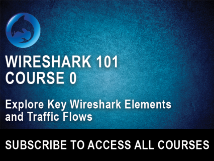 Wireshark 101 Course 0: Explore Key Wireshark Elements and Traffic Flows (WS101-0)